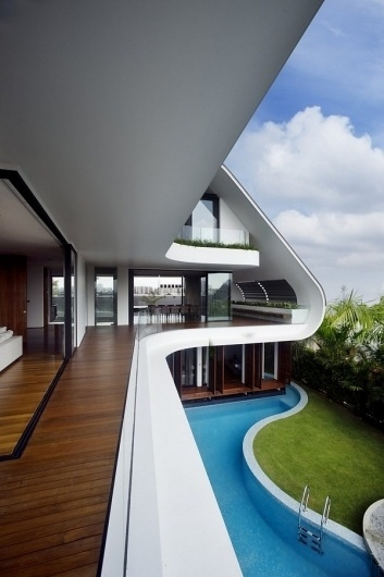 Looks like good Siglap House by Aamer Architects #pool #aamer #architecture