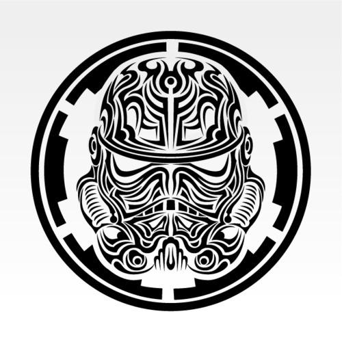 vapor maché, New age tribal Stormtrooper.svalts: Tribal... #white #tribal #black #storm #and #trooper