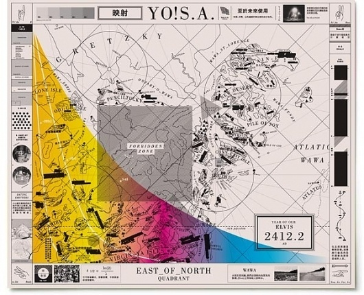 Paul Sahre: Selected Work: Future Map #design #graphic #map #future #paper