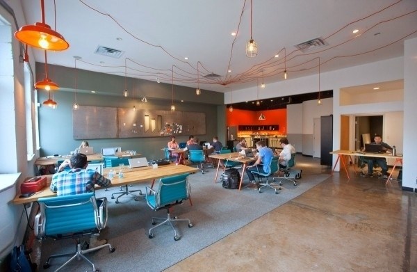 Weld coworking space and studio in Texas   jared erickson #lighting #office #workspace