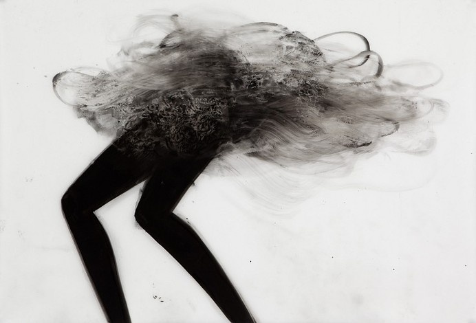Cathy Daley, Untitled #21, From the Dance Series 2010, Oil Pastel on Vellum