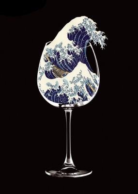 javier jaén #spain #japanese #wave #glass #illustration #sea #boat #barcelona #jan #metaphor #javier