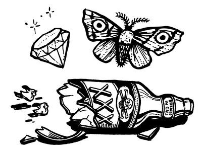 Active Skateboard Flash 2 #moth #animal #drawing #illustration
