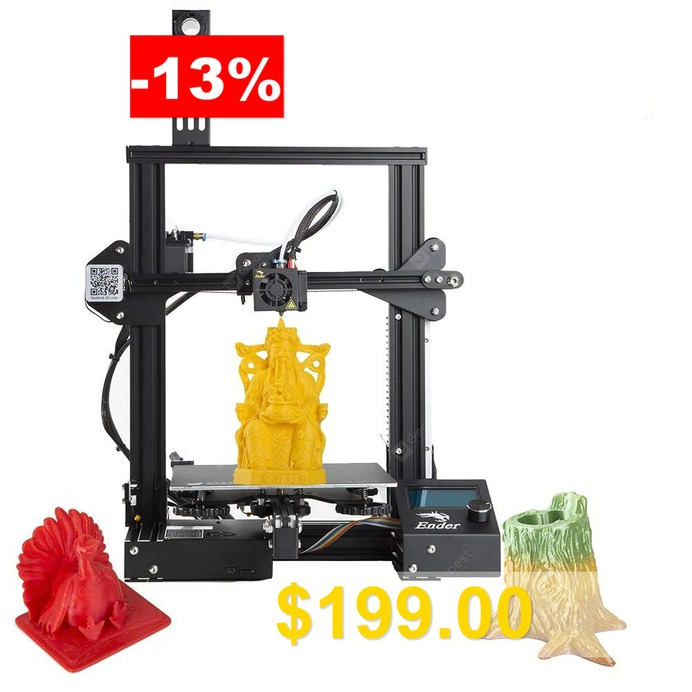 2019 #New #Version #Creality #Ender #3 #3D #Printer #Aluminum #DIY #with #Resume #Printing #for # # #School #Use