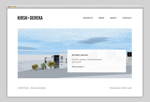 Kirsh + Dereka Arkitekter #website #layout #design #web