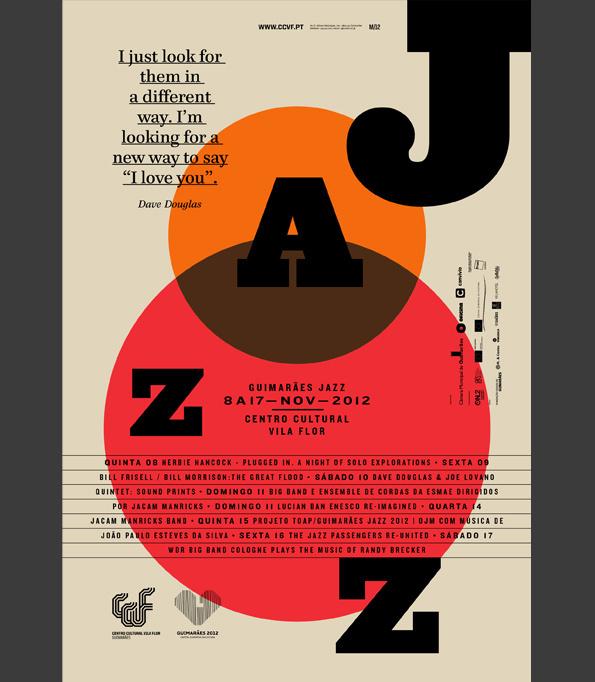 GUIMARxc3x83ES JAZZ 2012 #design #poster #typography