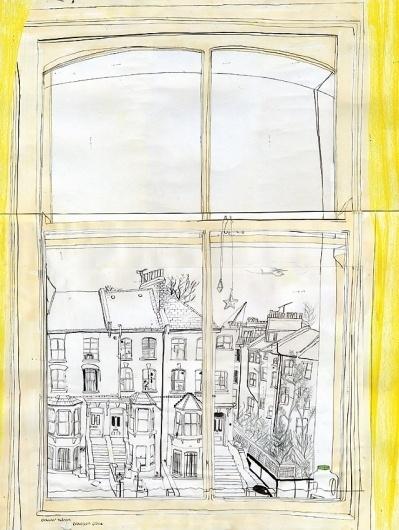 Olwen's bedroom window - claremallison.com #clare #drawing #mallison