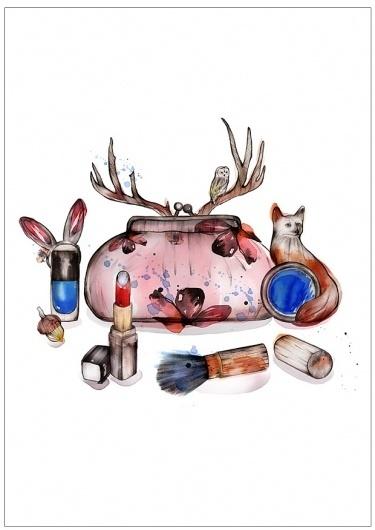 verónica ballart lilja #inspiration #illustration #makeup