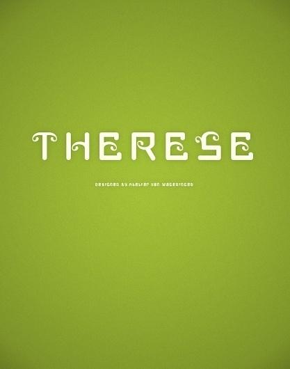 Novo Typo - Therese Quatorze #novo #design #typeface #typo #typography