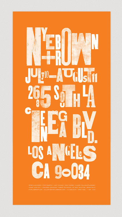 Nye+Brown — Summer Show #technique #lettering #design #graphic #craftsmanship #quality #typography