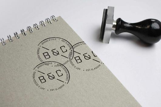 • Briggs & Cole - Effektive® Design for Print, Screen & Environment #monogram #stamp