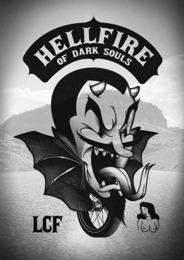LORDS OF CHAOS on the Behance Network #sailor #black #logo #devil #hobo #poster #type