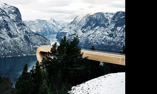 Aurland Lookout #norway #modern #landscape #nature #architecture