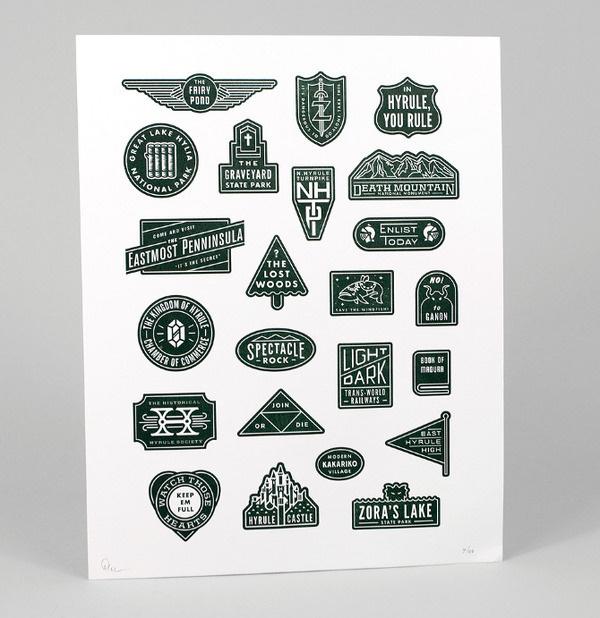 Triforce Tribute DAN CASSARO YOUNG JERKS Design/Animation/Illustration #modern #print #letterpress #symbols #poster #lock