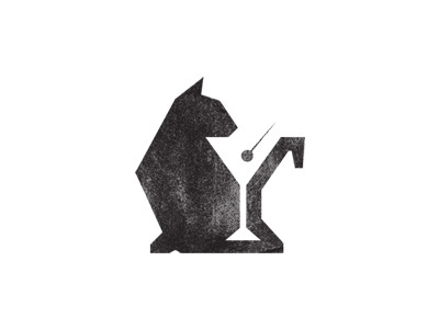 Dribbble - Black Cat Lounge by Jacob Weaver #negative #space