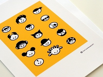 Dribbble - Tooni Heads by Jacek Bernatek #illustration #vector #icons