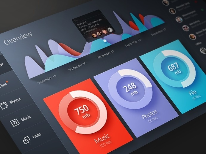 Cloud Storage #dynamic #infographics #color #ui #digital #data
