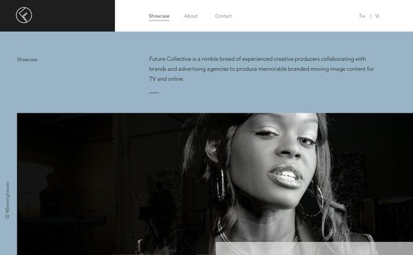 Future Collective website #minimalism #website #block #minimal #blocks #type #web #typography