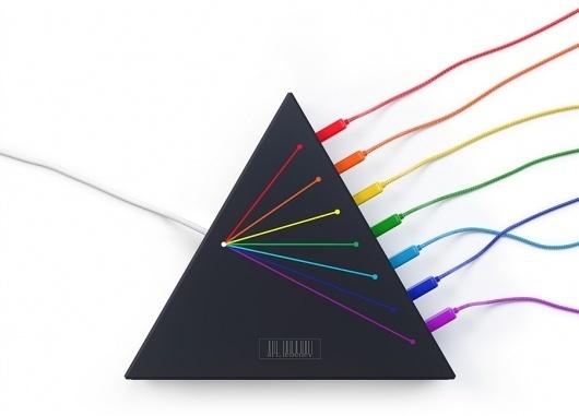 Spectrus USB hub #lebedev #usb #hub #design #cables #product #triangle #studio #art