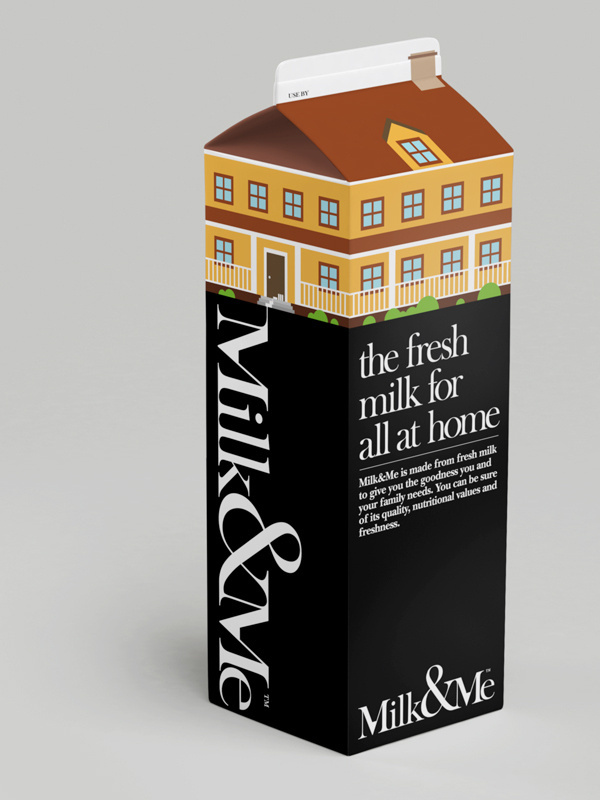 Milk & Me - Fresh #house #packaging #design #graphic #home #milk #carton