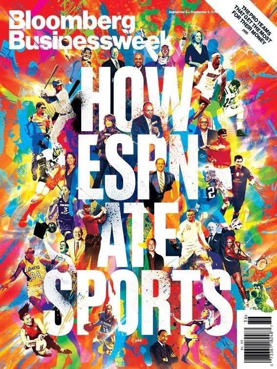 Bloomberg Businessweek ESPN Cover #abstract #athletes #cover #colors #espn #sports #splash