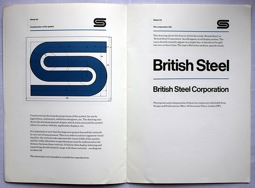 Eye blog » Fixed compass. David Gentleman talks about his identity design for British Steel #steel #british #branding #guidelines #gentleman #brand #logo #helvetica #david