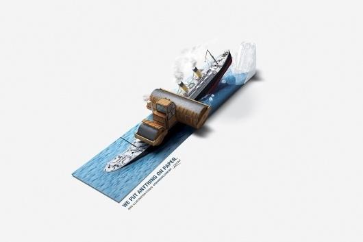 Rios Illustration Studio: Titanic | Ads of the World™ #amazing #illustration #design