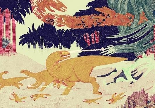 Micah Lidberg | Angry Cloud #dinosaur #illustration #micah #lidberg