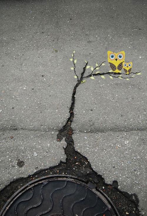 CJWHO ™ (Subtle Street Art by Alexey Menschikov Alexey...) #design #illustration #art #street #cute