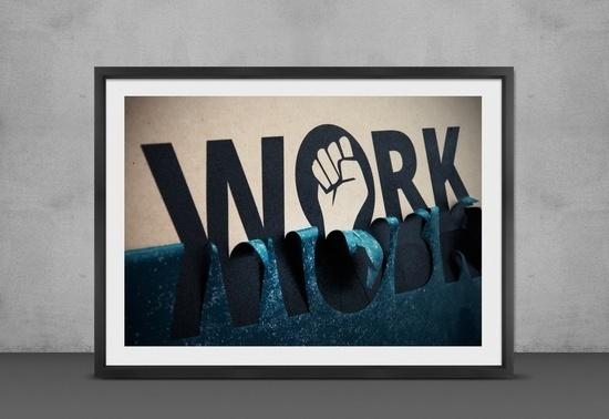 Work Typography Poster Agency Handmade Bratus