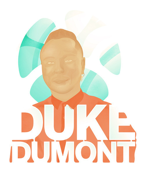 Duke Dumont AKAAdam George Dyment- pretty much one of my favourite musical artists at the moment. #duke #oconnell #dumont #james #illustration #music