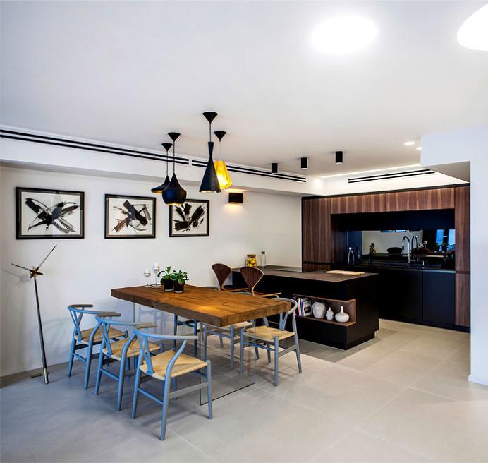 Trendy Dark Colored Apartment in Tel Aviv - #decor, #interior, #homedecor, #kitchen, #kitchendesign