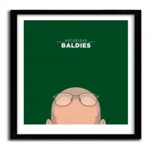 Notorious Baldie WALTER WHITE by Mr Peruca #print