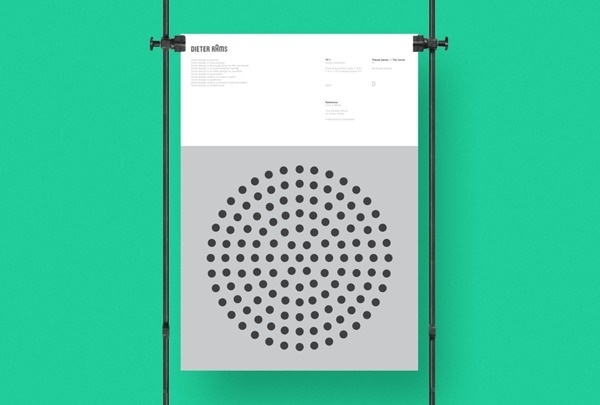 "thedsgnblog:Duane Dalton  |  http://duanedalton.com""A tribute poster series that focus on the circular forms present in the designs o #design #graphic #poster"