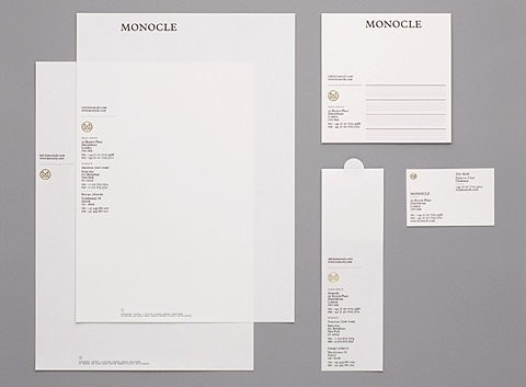 Typography / Monocle Stationary #heritage #white #stationary #classic #gold