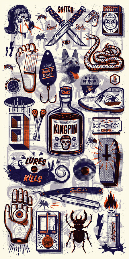 KINGPIN SKATE SUPPLY #print #kingpin #kate #illustration