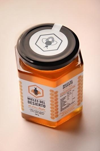 Mieles del Desierto on the Behance Network #pictogram #packaging #bee #letter #honey