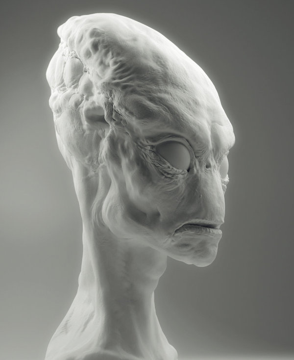 White render #alien #digital #render #art