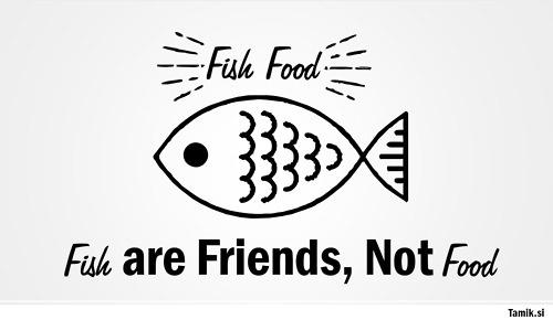 | fish friends. #logotype #creative #vector #slovenia #tamik #fish #stormmajki #food #restaurant