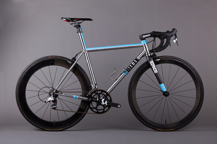 Stainless Steel Ritte Bikes Snob with custom paint. #cycling #bikes #bicycling #bike