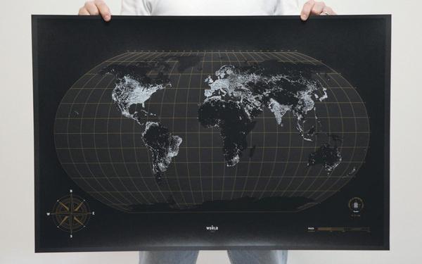 Lead Image #print #world #lights #glow #poster