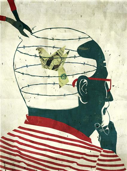 Free Money #emiliano #free #ponzi #illustration #money