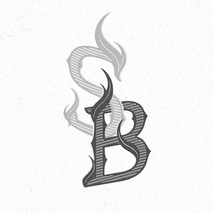 Kidon Bae - Soul Burnz Monogram #logodesign #monogram #letter #illustration #hand #detail #lettering #graphicdesign #design #identity #pen #type #logo #sketch #calligraphy #handdrawn #pencil #typography #designsketch #graphic #handtype #drawn #art #drawing