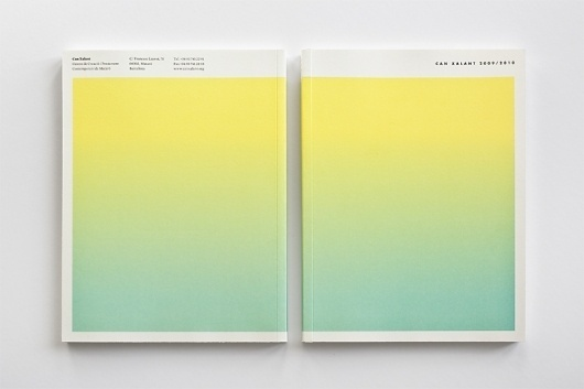 Anuario Can Xalant 09/10 | Albert Ibanyez #design #graphic #book #color #cover #gradient #albertibanyez