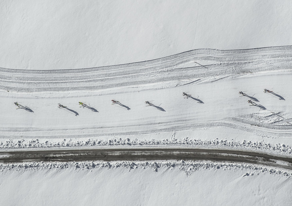 Aerials Cross-Country Skiing (10) #aerial #bernhard #sky #photography #lang