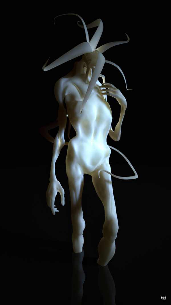 Fallacy on Behance #sculpture #bizarre #white #porcelain #horror #monster #fallacy #creature