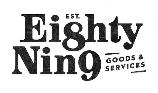 Est. 89 logo | Flickr - Photo Sharing! #numbers #typography