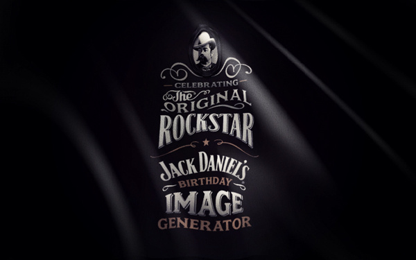 Jack Daniel's B-day Image Generator on Behance #lettering #script #flag #black #daniels #jack #type #typography