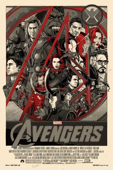 Mondo: The Archive   Tyler Stout The Avengers Variant, 2012 #movie #poster