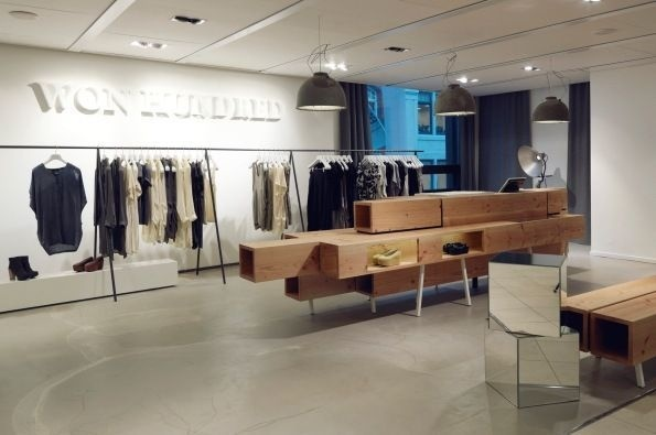 Won Hundred hip shops in Copenhagen. #retail #clothing #space #store #concept #hundred #hipshops #won